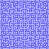 Blå dekorativ sömlös linje modell Royaltyfri Foto