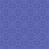 Blå dekorativ sömlös linje modell Arkivfoto