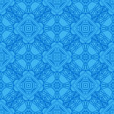 Blå dekorativ sömlös linje modell Fotografering för Bildbyråer