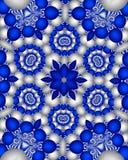 blå delft wallpaper Royaltyfria Bilder