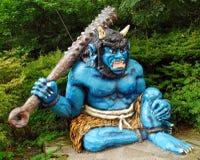 Blå demon royaltyfria bilder