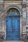 blå denmark dörr double sköt viborg arkivfoto