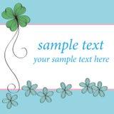 Blå design för blommakortmodell Royaltyfri Bild