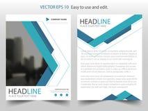 Blå design för mall för reklamblad för broschyr för årsrapport för broschyr för triangelabstrakt begreppvektor, bokomslagorienter vektor illustrationer