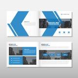 Blå design för mall för reklamblad för broschyr för broschyr för pilvektorårsrapport, bokomslagorienteringsdesign, abstrakt affär Arkivfoton