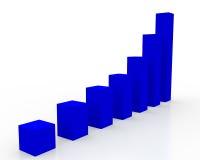 blå diagramstatistik Arkivfoto