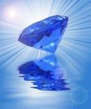 blå diamant royaltyfri illustrationer