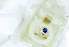blå diamantcirkel Arkivfoton