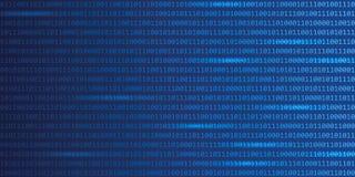 Blå digital för rengöringsdukteknologi för binär kod bakgrund royaltyfri illustrationer