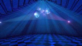 Blå diskobakgrund Fotografering för Bildbyråer