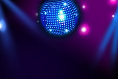 Blå diskoboll. Royaltyfri Foto