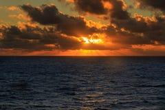 blå djup soluppgång Arkivbilder