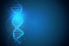 Blå DNAbakgrund royaltyfri illustrationer
