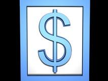 blå dollar Arkivbild
