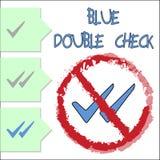 Blå double Check royaltyfri illustrationer