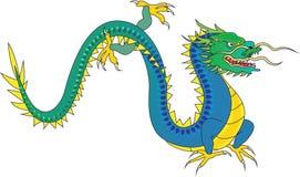 blå drake Arkivbild