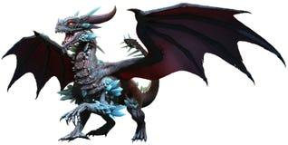 blå drake royaltyfri illustrationer