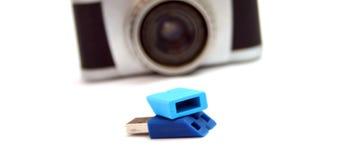 blå drevexponeringsusb Royaltyfria Foton
