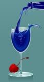 blå drink Arkivfoton