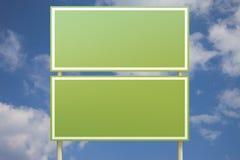 blå dubbel främre grön teckensky Fotografering för Bildbyråer