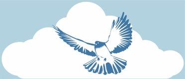 blå duva royaltyfri illustrationer