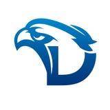 Blå Eagle Initial C för vektor logo royaltyfria bilder