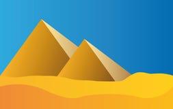 blå egypt pyramidsky royaltyfri illustrationer
