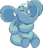 blå elefant Royaltyfria Bilder