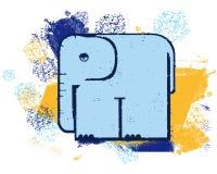 Blå elefant Arkivbilder