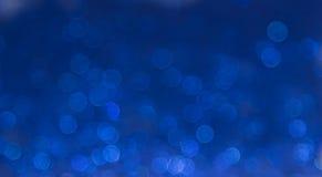 Blå elegant abstrakt bokehbakgrund Royaltyfria Foton