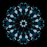 Blå elegant rund symmetri Stock Illustrationer
