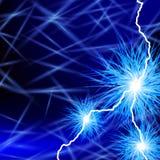 blå energi Arkivfoto