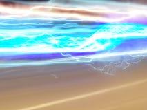 Blå energiexponering royaltyfria foton