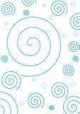 blå enkel spiral för bakgrund Vektor Illustrationer