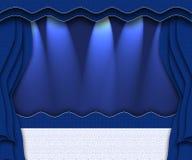 blå etapp Arkivfoton
