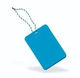 blå etikett Arkivfoto