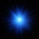 blå exponeringsstjärna Arkivbilder