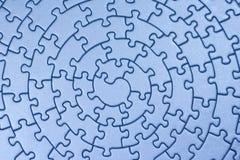 blå färdig jigsaw Arkivbilder