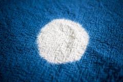 Blå färga tygbakgrund Textilen texturerar Royaltyfria Bilder