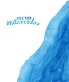 blå färgad paper texturvattenfärg för abstrakt bakgrund Arkivbilder