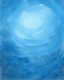 blå färgad paper texturvattenfärg för abstrakt bakgrund Royaltyfria Bilder