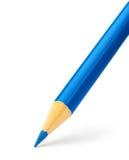 blå färgblyertspenna Arkivfoto