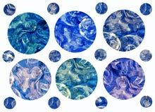 Blå färgmelodi Arkivfoto
