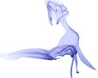 blå färgrök Arkivbild