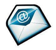 blå färgrik e-postsymbol Royaltyfri Foto