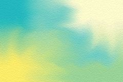 Blå färgrik ljus målarfärgborste på pappers- texturbakgrund, mång- färgrik pastell för tapet för färg för vatten för målningkonst royaltyfri illustrationer