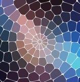 Blå färgrik mosaikmodell Det kan vara nödvändigt för kapacitet av designarbete Mosaisk stil stock illustrationer