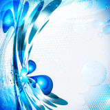 blå färgstänk Royaltyfri Foto