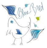 Blå fågel stock illustrationer