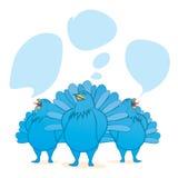 Blå fågel Royaltyfri Illustrationer